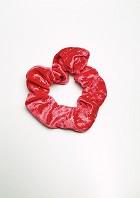Haargummi Rot-Silber Glitzer Samt