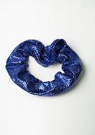 Haargummi dunkelblau-silbernem Wetlook