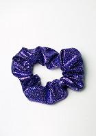 Haargummi violett-silbernem Wetlook