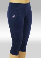 Legging 3/4 Turnlegging blau glatt Stretch Samt K754ma