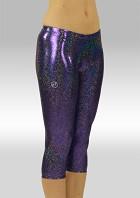 Legging 3/4 lang Lila Glitzer-Wetlook W754475