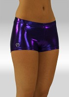 Hotpants lila wetlook W758pa